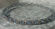 Items similar to Ice Blue Jeweled Czech Crystal Circlet on Etsy Geek Jewelry, Wire Jewelry, Jewelery, Jewelry Accessories, Handmade Jewelry, Unique Jewelry, Artisan Jewelry, Jewelry Ideas, Diamond Tiara