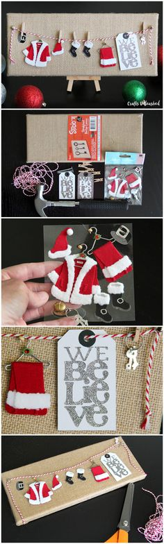 We Believe Santa Clothesline DIY Christmas Decoration