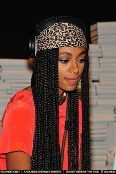 Poetic justice braids with a mini headwrap