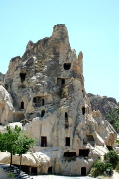 The Göreme Open Air Museum, Cappadocia, Turkey - with a large number of cave churches and homes.