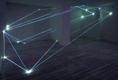 CARLO BERNARDINI, SPATIAL CODE 2009, Fiber optic, feet h 13x31x22. Grossetti Arte Contemporanea, Milan.