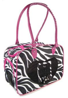 J Garden Pet Purse Collection Zebra  Pink ** Check out the image by visiting the link. (This is an affiliate link) #DogCarrierPurses