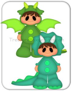 Costume Kids (Dragon & Dino)  - Treasure Box Designs Patterns & Cutting Files (SVG,WPC,GSD,DXF,AI,JPEG)