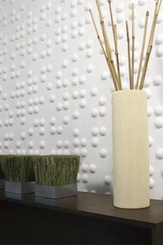 Inhabit - Braille Wall Flat.    Inhabit's Embossed Wall Flats are designed to expand in any direction. With an automatic pattern repeat these wall tiles are simple, modern, versatile and goof-proof. You can cover a existing wall, help disguise a not-so-smooth wall or add a modern pattern to any room setting.     Customize them by rotating every other tile or row, mix-and-match patterns or paint them to coordinate with your decor.