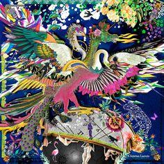 Christian Lacroix Dragangel Accessoires Haute Couture, Art Graphique, Carré  Hermes, Dessin De Mode 951eca77381