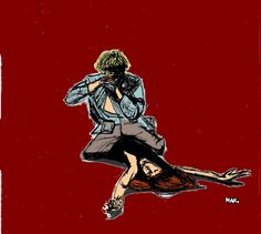 Blow Up, M. Antonioni (1967) Draw by Maxime Sallé