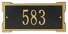 """Whitehall Products 1026 Mini Roanoke Entryway Plaque by Whitehall. $46.99. Whitehall Products 1026 Few products can add as much value to the curb appeal of your home as a Whitehall Personalized Plaque. Each plaque is crafted from rust-free recycled aluminum. Paints have been specially formulated and weather tested to withstand the harshest elements, and many Whitehall address plaques are designed to provide maximum visibility to meet local """"911"""" emergency standards. Feat..."""