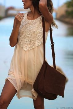 Lace dress #nude This is perfect for layering in fall too