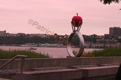 """Detail from a sculpture called """"RINGO"""" and is by Reina Kubota. The installation is located in Riverside Park, New York City (in an area called Hudson River Park. INFO on TLLG's FB Page @ https://www.facebook.com/photo.php?fbid=529883083727736=a.355589574490422.73015.247917655257615=1"""