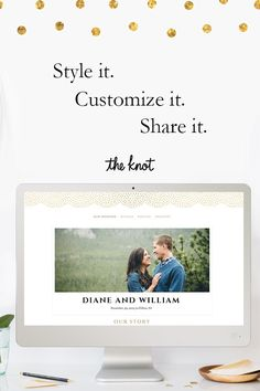 Creating the perfect wedding website is now easier than ever before with The Knot. Discover over 130 beautiful designs including some put together by top fashion and lifestyle designers. From there you can customize your site, add registries and give your guests all the important details. Oh, did we mention it's free?