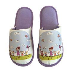 Pantufa Infantil Passeio no Jardim Lilás > Conforto Store