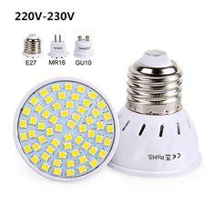 [Visit to Buy] Led Spotlight 220V 230V Led Lamp Bulb E27 GU10 MR16 High Bright Light SMD2835 48/60/80LEDs Lampara For Home Lamps #Advertisement