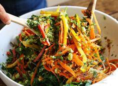 Тайский салат с чесночной заправкой - пошаговый рецепт | Салаты