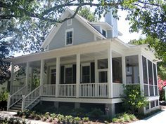 just like my grandparents porch. Love it! Sugarberry cottage with extended porch