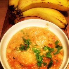 Yum yum. Banana, chickpea and tea curry.