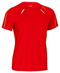 Rono - Camiseta de running transpirable para hombre roja #regalo #arte #geek #camiseta