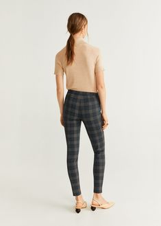 Elastic Skinny fit Medium waist Elastic waist Zip and hook fastening Printed Leggings, Women's Leggings, Harem Pants, Trousers, Skinny Fit, United Kingdom, Elastic Waist, Mango, Fashion