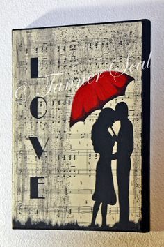 Image result for red coat woman and man umbrella painting