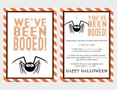 You've Been Booed--Free Printable