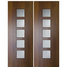 Stylish contemporary and modern solid wood entry doors with clean lines and geometric shapes to give your home sophistication that can be felt from the curb. Wood Entry Doors, Wood Exterior Door, Modern Front Door, Front Entry, Front Doors, Sliding Doors, Double Doors Interior, Modern Interior, Best Interior Design Websites