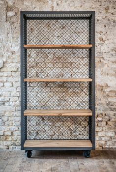 SHELF MESH MULTI - Designer Shelving from Noodles Noodles & Noodles ✓ all information ✓ high-resolution images ✓ CADs ✓ catalogues ✓ contact. Welded Furniture, Industrial Design Furniture, Steel Furniture, Industrial House, Diy Furniture, Furniture Design, Wood Steel, Wood And Metal, Metal Mesh