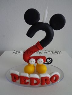 Vela Personalizada com Nome: Mickey