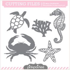 Sea Creatures - Pink Paisley $2.00