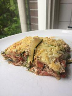 Koolhydraatarme Courgette Lasagne