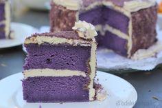 Purple yam (Filipino ube) cake  So pretty...wondering if my purple sweet potatoes will suffice...