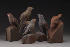 Artist: Chris  Berti, Title: Carved Brick Birds - click to go back to previous page