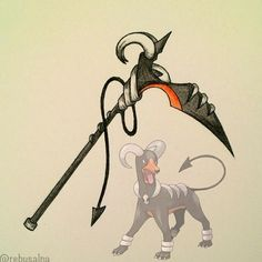 Houndoom Scythe - Created by: @rebusalpa - i think this is so COOL! Look at it!