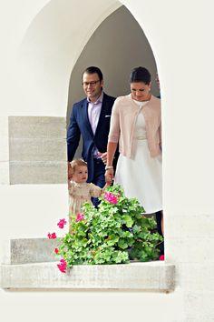Swedish Crown Princess Victoria with daughter Crown Princess Estelle and Prince Daniel