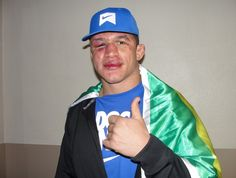 JDS post fight photo, people booed during his interview after his five round title fight loss. If it wasn't for the t-shirt with his name on it, you wouldn't know who it was!