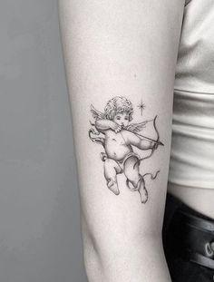 Band Tattoos, Dope Tattoos, Pretty Tattoos, Body Art Tattoos, Tattoos For Guys, Tattoos Of Angels, Woman Body Tattoo, Tattoo Drawings, Tattos