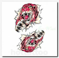 9830b7f8d 20 Best Traditional Tiger Tattoo Drawing images in 2017 | Tiger ...