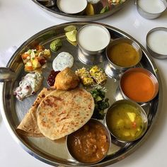 Sunday lunch means Thali for me. In association with @global_steph  #thali #lunch #lunchtime #sunday #roti #samosa #chutney #salad #paratha #khandvi #sambar #dal #subji #tasty #tastyfood #foodie #foodphotography #foodoftheday #picoftheday #foodporn #eeeeeats #eat #food52 #delicious #lunchoftheday #hungry  Yummery - best recipes. Follow Us! #tastyfood