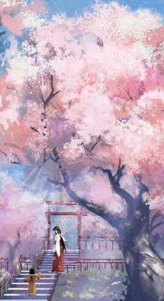 I Found Out What Furin Are - I drink and watch anime Fantasy Art Landscapes, Fantasy Landscape, Anime Scenery Wallpaper, Wallpaper Backgrounds, Wallpaper Desktop, Disney Wallpaper, Wallpaper Quotes, Aesthetic Art, Aesthetic Anime