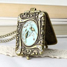 Birds of A Feather Locket  by Sevinoma