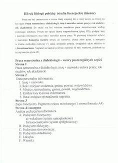 Ola ma bloga, a Ty?: Praca semestralna z dialektologii. Jak zrobić prac...