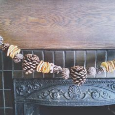 winsome hollow: dried orange and pinecone garland...