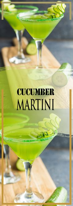 INGREDIENTS 1 cucumber, chopped with the skin 1 oz. Cucumber Martini Recipe, Cucumber Drink, Cucumber Water, Martini Recipes, Cocktail Recipes, Cocktail Shots, Wine Cocktails, Alcoholic Drinks, Beverages