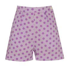 Tara Starlet - Lilac polka dot shorts.