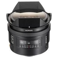 Sony 16mm f2.8 Fisheye Lens : Get a fascinating perspective on landscapes, cities, crowds and special events with the unique view of the 180° angle SAL-16F28 fish-eye lens from Sony.