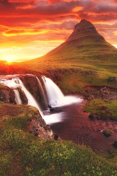 Kirkjufell at sunset, Iceland  (by abdullah alkandry)