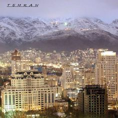 Tehran with the Alborz Mountains in the back