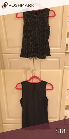 Black Sequin Tank Top Gently used but in great condition. Anne Taylor Tops Tank Tops