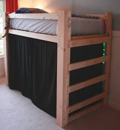 60 Creative Dorm Room Decorating Ideas On A Budget - Bed fort - Loft Bed Plans, Murphy Bed Plans, Bunk Bed Designs, Kids Bunk Beds, Loft Spaces, Open Spaces, Dream Rooms, My New Room, Dorm Room