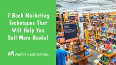 If you are going to market your book effectively, you will need a plan. Here are 7 book marketing tips to get you started. #bookmarketing #bookmarketingtips #marketingtips Marketing Techniques, Writer, Motivation, How To Plan, Tips, Books, Travel, Libros, Viajes