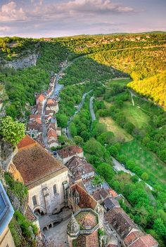 Beautiful Village - Rocamadour, Dordogne, France-  Rocamadour is a commune in the Lot department in south-western France. It lies in the former province of Quercy..