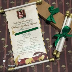 Royal prince princess scroll invitation birthday wedding safari scroll invitation birthday wedding invitation handmade prince invitation christening birth announcement filmwisefo Images